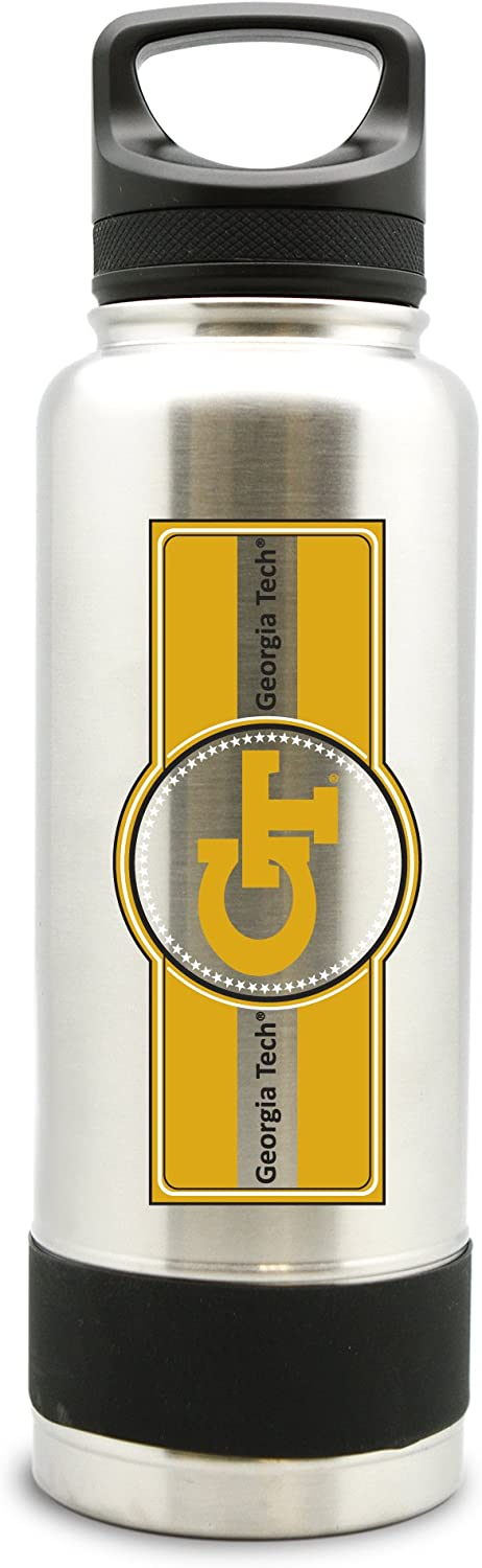 NCAA Georgia Tech Yellow Jackets 38oz Double Wall Stainless Steel Large Water Bottle