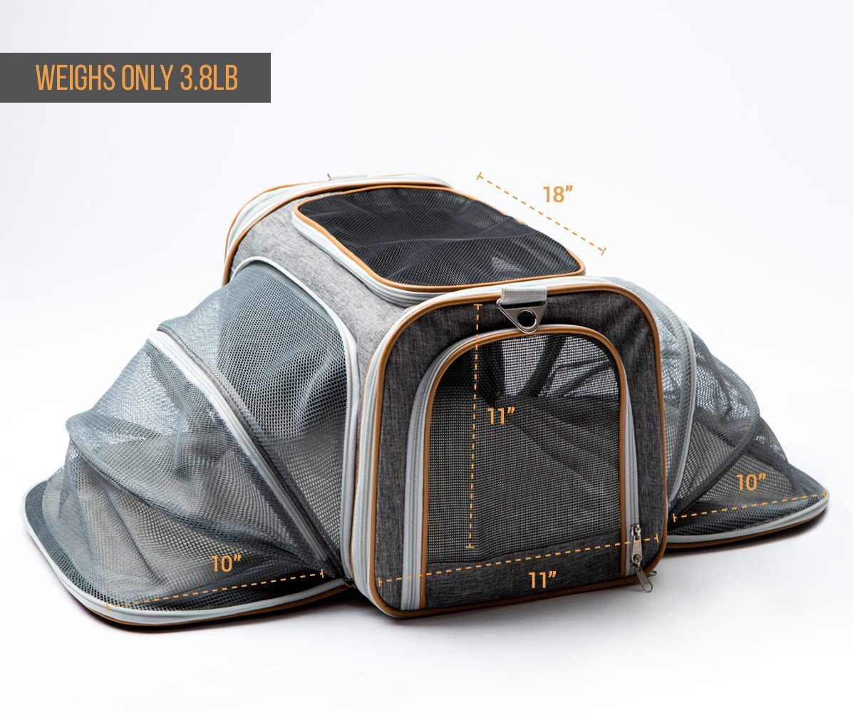 PETYELLA Luxury Pet Carrier + Fleece Blanket & Bowl - Airline Approved Innovative Design - Lightweight Dog & Cat Carrier by PETYELLA (Image #7)
