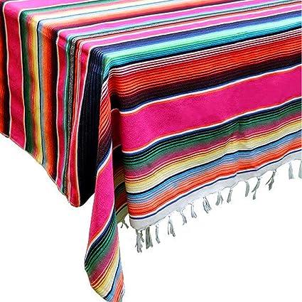 d99b397fbfc Amazon.com  LGHome 59 x84 inch Mexican Blanket Tablecloth Mexican ...