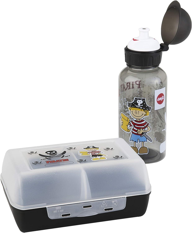Emsa 518136 - Set botella de agua y fiambrera pirata para niños de ...