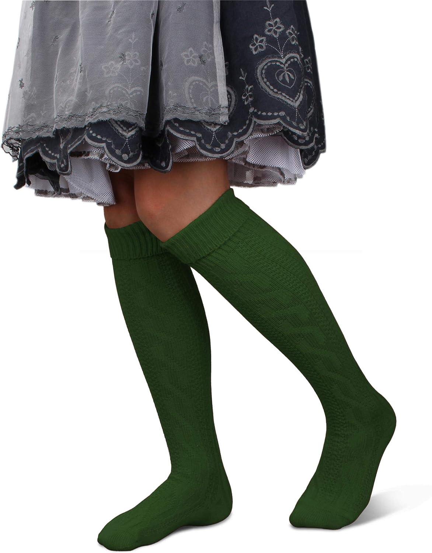GearUp Lange und Kurze Trachtensocken für Damen | Trachtenstrümpfe fürs Oktoberfest | Kniebundhosenstrümpfe passend zu Dirndl oder Lederhose Gear Up