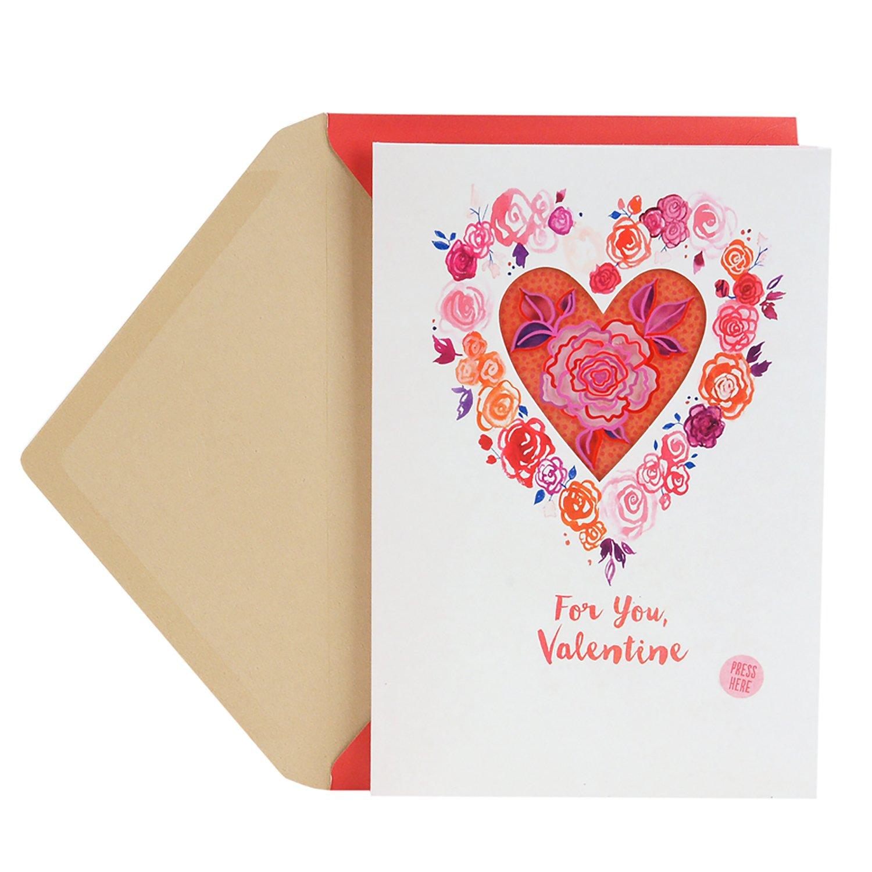 Amazon Hallmark Valentines Day Sound And Light Greeting Card