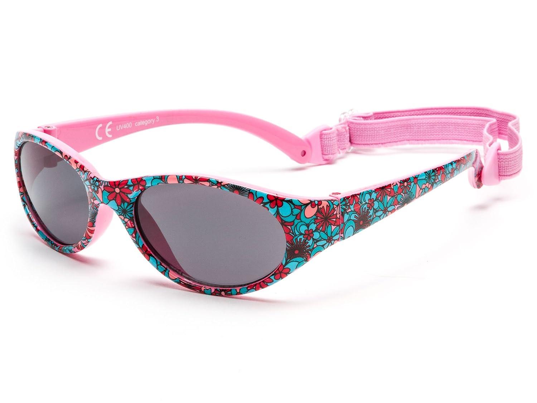 Sonnenbrille Kids Comfort JUNGE UND MÄDCHEN   Alter 2 bis 6 Jahre   TOTAL FLEXIBLE MODELL FÜR EXTRA KOMFORT   mit BAND und sehr resistent   100% UV-Schutz   ideales Geschenk Kiddus