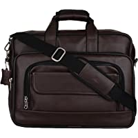 K London Dark Brown Artificial Leather Handmade Men & Women Laptop Bag Cross Over Shoulder Messenger Bag Office Bag (1102_darkbrn)