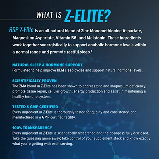 Z-Elite – Natural Sleep Support Supplement, Nighttime Muscle Recovery and  Sleep Aid, Healthy