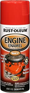 Rust-Oleum 248948 Automotive Rust Preventive Engine Enamel Spray Paint, 12 Oz Aerosol Can, Ford Red