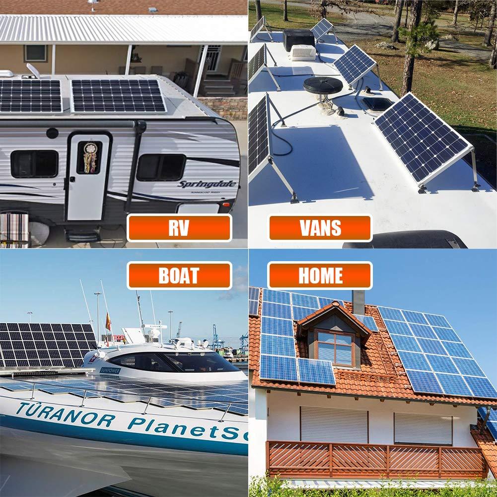 Richsolar 100 Watt 12 Volt Monocrystalline Solar Panel with MC4 Connectors 12 Volt Battery Charging RV, Boat, Off Grid (100W) by Richsolar (Image #1)