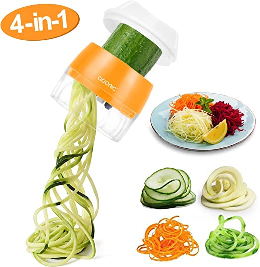 Zoodle Stainless Steel Slicer Spiralizer Veggie Spaghetti Noodle Maker ABS Sets
