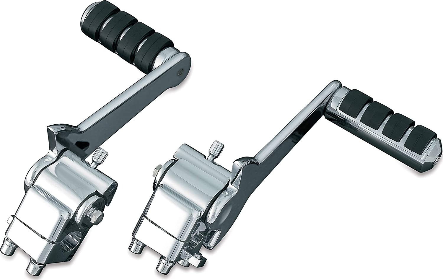 Kuryakyn 7926 Motorcycle Footpegs 1 Pair Adjustable Passenger Pegs for 1993-2006 Harley-Davidson Motorcycles with Fixed Mounts Chrome