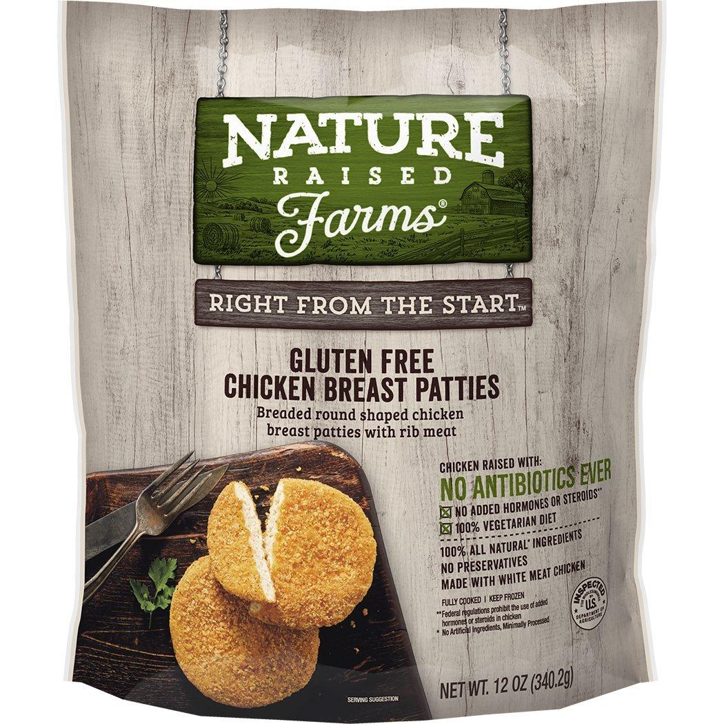 Natureraised Farms Gluten Free Breaded Chicken Breast Patties 12 Oz