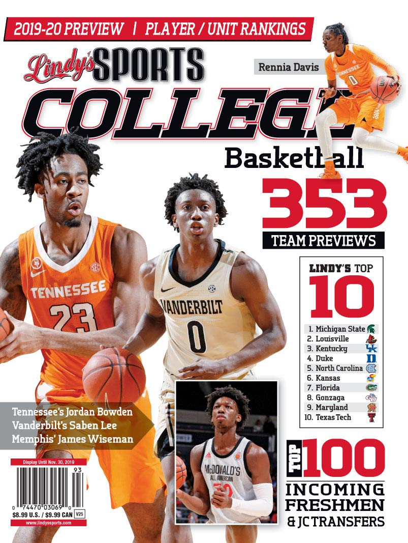 Lindy S 2019 20 College Basketball Preview Tennessee
