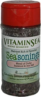 product image for VITAMINSEA Furikake Seaweed Seasoning Dulse - Sea Salt - 2.5 oz / 71 G Shaker - Vegan Certified - For Keto - Maine Coast Atlantic Hand Harvested - Sun Dried - Raw Sea Vegetables (DSS2.5)