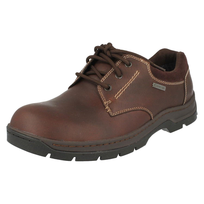 TALLA 41.5 EU. Clarks Schuhe Stanten Walk GTX Braun, Zapatos de Cordones Derby para Hombre, marrón, 41.5 EU