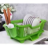 Samplus Mall 3 In 1 Kitchen Sink Dish Drainer Drying Rack Washing Holder Basket Organizer Tray 44 X 18 X 15 Cm
