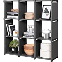 Snazzy Foldable Designer Metal Open Bookcase Book Shelf Rack Book Shelve for Home Library ( Black)