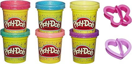 6oz Single Strawberry scented or pink glitter play dough