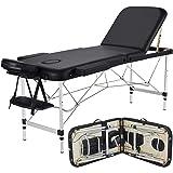 Yaheetech Massage Table Portable Massage Bed 3 Folding 84 Inch Aluminium Frame Lightweight Height Adjustable Salon Spa…