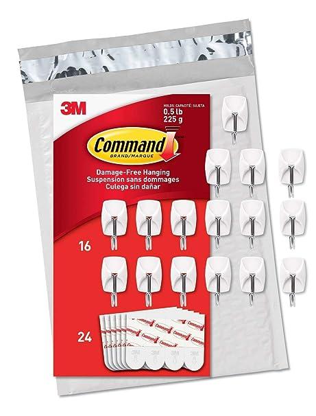 Amazon.com: Command Damage-Free Small Wire Hooks, White ...