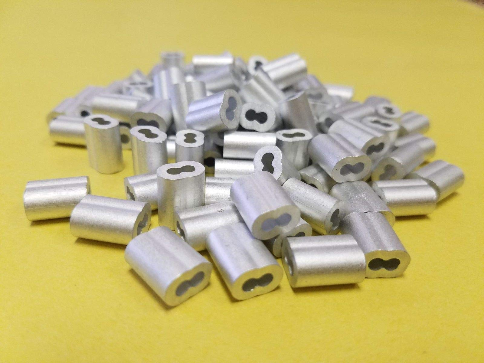 Aluminum Swage crimps/Sleeves for 3/32'' Wire Rope Cable:50,100,200,500 &1000 pcs (200)