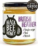 Black Bee Honey British Ling Heather Honey - Pure and Natural, raw, Single Origin British/UK Honey (230g Glass jar)