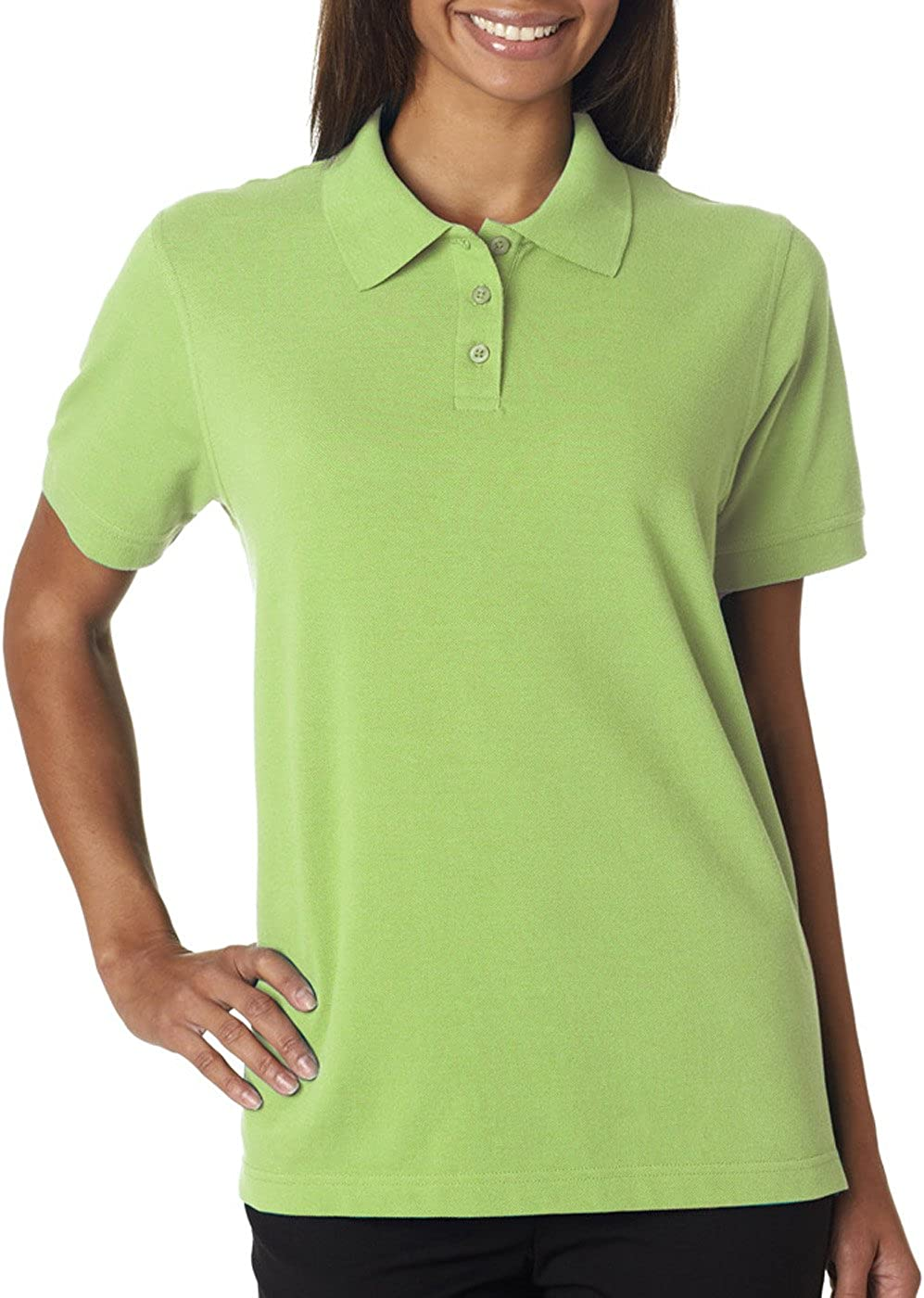 UltraClubs Women's Classic Pique Polo