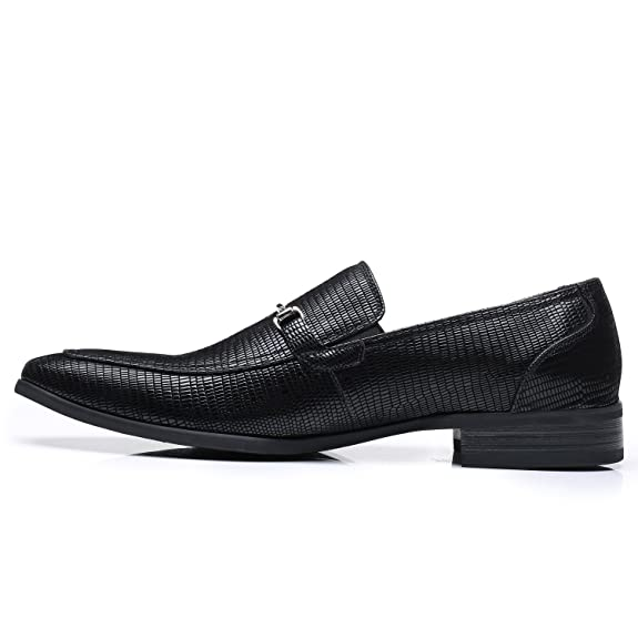 Amazon.com | Faranzi Mens Slip On Buckle Loafer Zapatoe de Hombre Comfortable Classic Modern Formal Business Men Dress Shoes | Oxfords