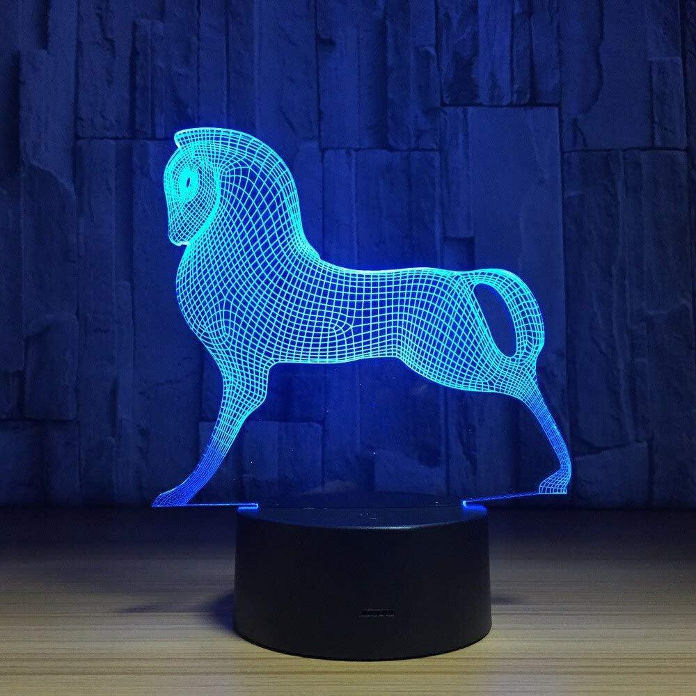 Lindo Colorido Pony Caballo Juguete mi Pony ilusión luz de la Noche luz de la Noche bebé niño luz del sueño