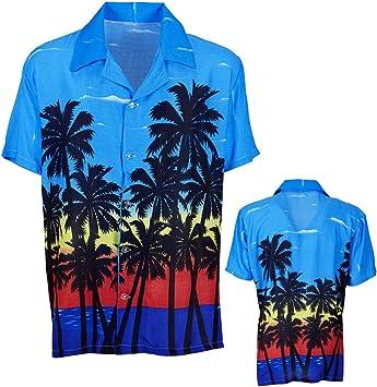 Amakando Camiseta Hawaii Palmeras Camisa Hawaiana M/L 50/52 Atuendo caribeño Ropa Palmera Aloha Top de Playa Disfraz Hula Hula: Amazon.es: Juguetes y juegos