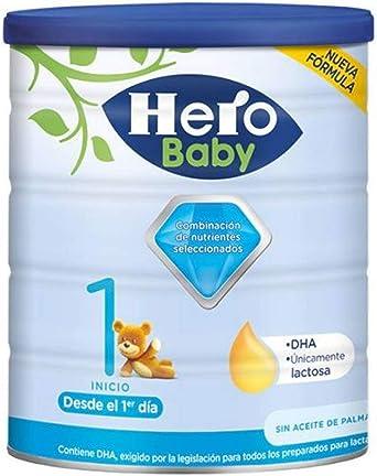 Hero Baby 1Leche de Inicio en Polvo para Bebés Hasta Los 6 Meses, 800g