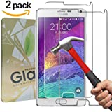 [2 Pack] Verre Trempé Galaxy Note 4,GYOYO Protection en Verre Trempé Note 4 protecteur d'écran Note 4 Haute transparence et ultra résistant pour protection Sumsung Galaxy Note 4