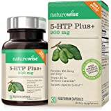 NatureWise 5-HTP Plus+ 200mg, Advanced Time Release, Supports Appetite Suppression & Natural Weight Loss, Mood Enhancement, Gluten-Free, Sleep Aid, Non-GMO, 30 Vegetarian DRCaps
