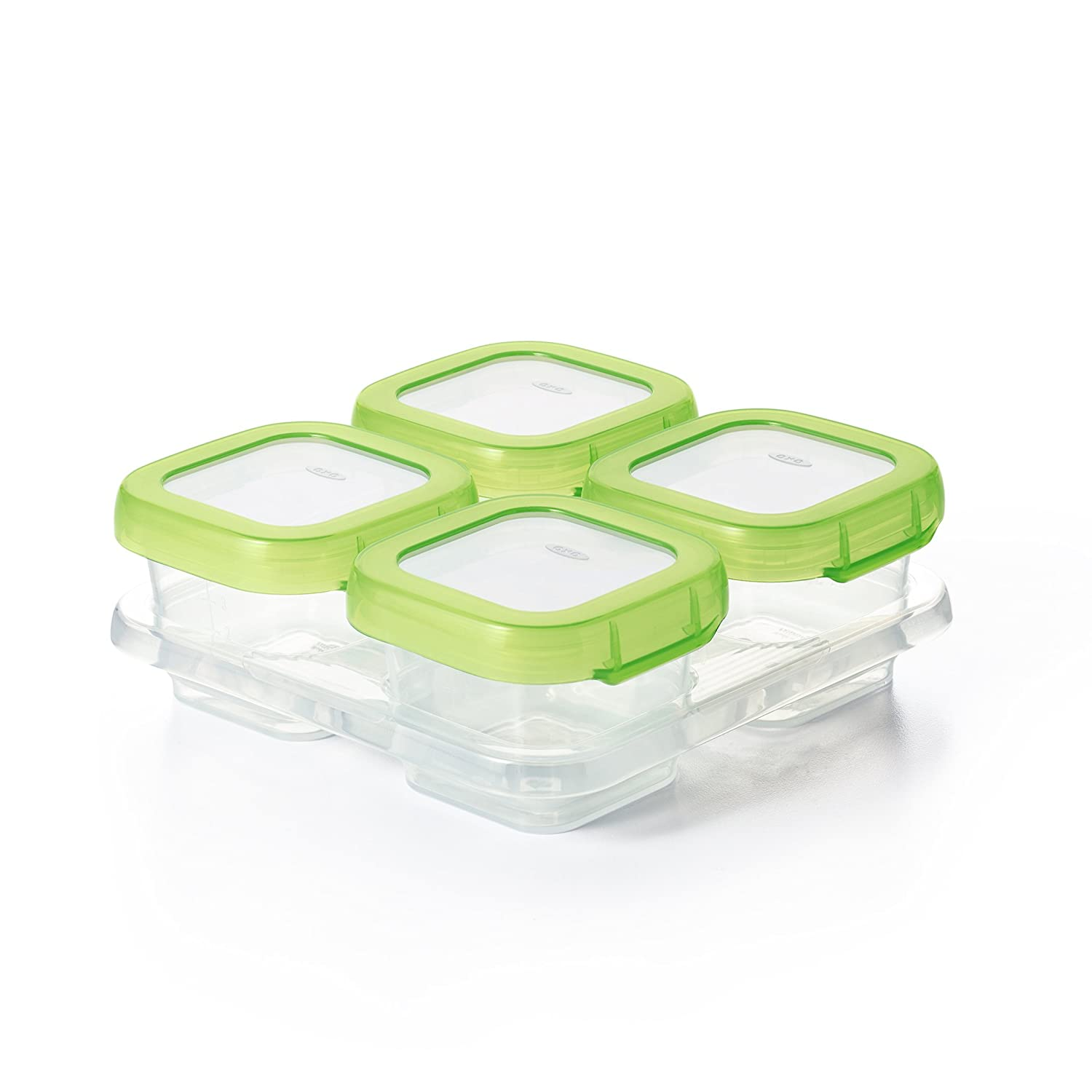 Oxo Tot Baby Blocks Freezer Storage Containers, Green, 4-Ounces 6112400