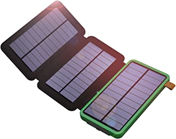 X-Dragon 10,000mAh Dual USB Portable Solar Battery Pack