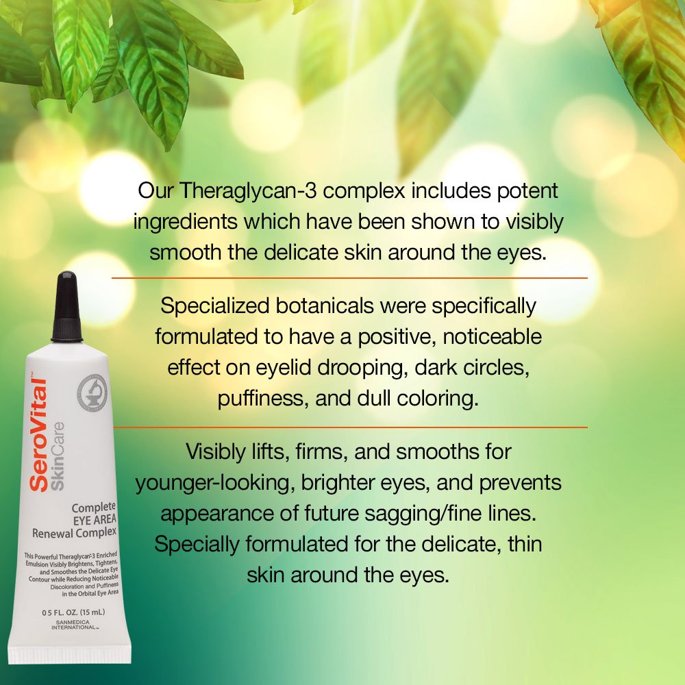 Complete Eye Area Renewal Complex - Designed to Visibly Brighten, Tighten and Smooth Eye Contour, and Noticeably Reduce Discoloration and Puffiness, (0.5 oz) by Serovital (Image #3)