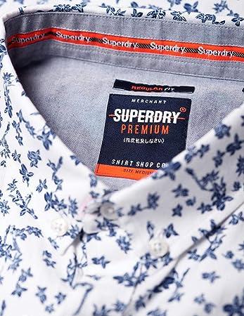 Superdry Premium Shoreditch S/S Shirt Camisa para Hombre