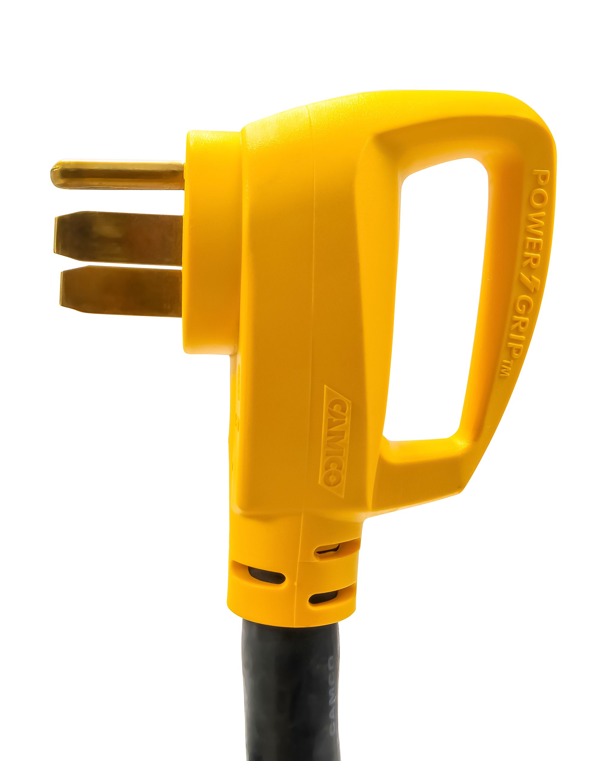 Camco 25 Foot Extension Cord - 50 Amp Standard Male to 50 Amp 90 Degree Female Locking Adapter (55574) by Camco (Image #2)