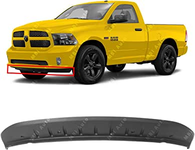 Type 3 Air Dam For Ram 1500 Valance 2011-2020 Front Lower 5182326AA Textured CH1090147 Plastic w//o Sport Package