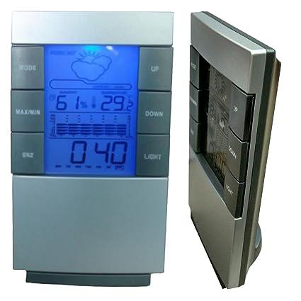 Digital sala Indoor Outdoor LCD de temperatura termostato oficina en casa medidor de humedad higrómetro termómetro