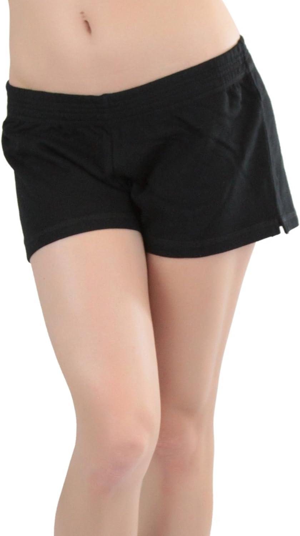 ToBeInStyle Women/'s Elastic Waist Cotton Shorts