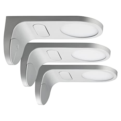 SEBSON® LED bajo mueble empotrable, touch función, blanco cálido 3000K, 3x 3