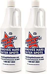 Bring it On Cleaner Hard Water Spot Remover Eco Friendly Shower Glass Cleaner Most Effective for Fiberglass, Windows, Chrome, Tubs, Granite, Steel, Soap Scum, Tile and Grout - 2 x 32 Ounce
