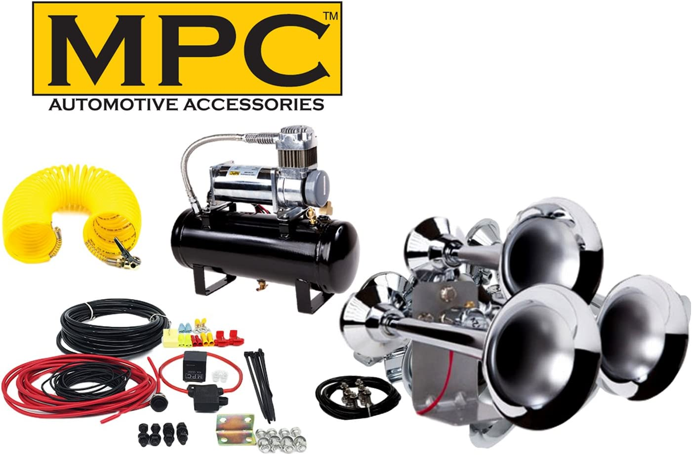 MPC Train Truck Air Horns Dual Loud Locomotive Complete Kit