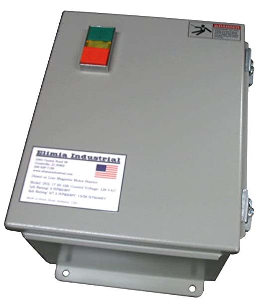 Elimia DOL Heavy Duty Motor Starter 120V 7-10 Amp 3-5 HP NEMA 12 Pre-wired