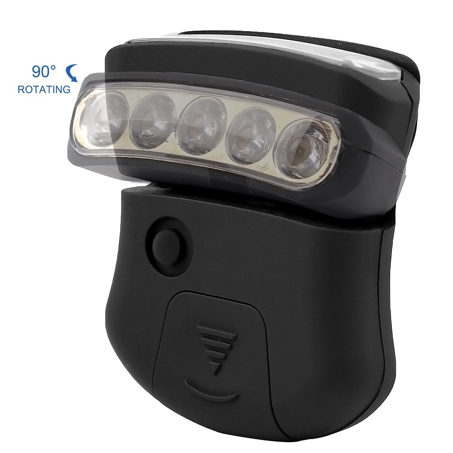 Thorfire Cap Hat Light 5-LED Headlamp Rotatable Ball Cap Visor light ...