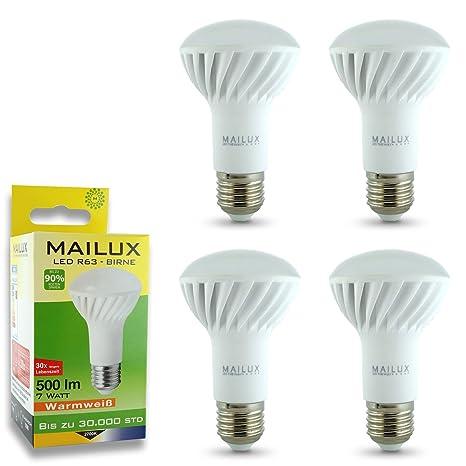 Mailuz R6C12339 - Bombilla led de bajo consumo (E27, R63, 7 W (