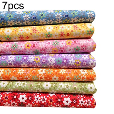 Anniston Art & Craft Sewing Set, 7Pcs Floral Print Cotton Cloth Hand Craft Bag Doll Clothes DIY Sewing Material Sewing Supplies for DIY Beginners Adult Kids Teens Girls: Toys & Games