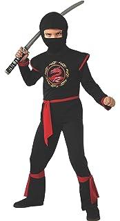 Rubies - Disfraz de ninja para niños, color rojo, 3-4 años (12110 ...