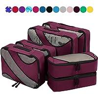 6 Set Packing Cubes,3 Various Sizes Travel Luggage Packing Organizers