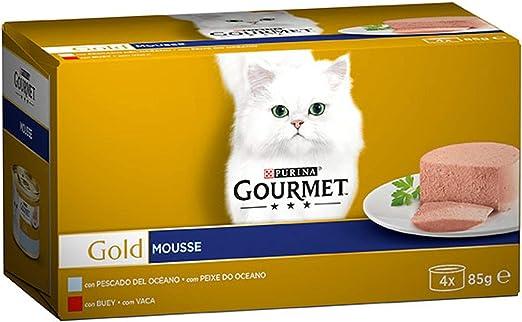 Purina Gourmet Mousse Comida para Gatos, Surtido de Sabores ...