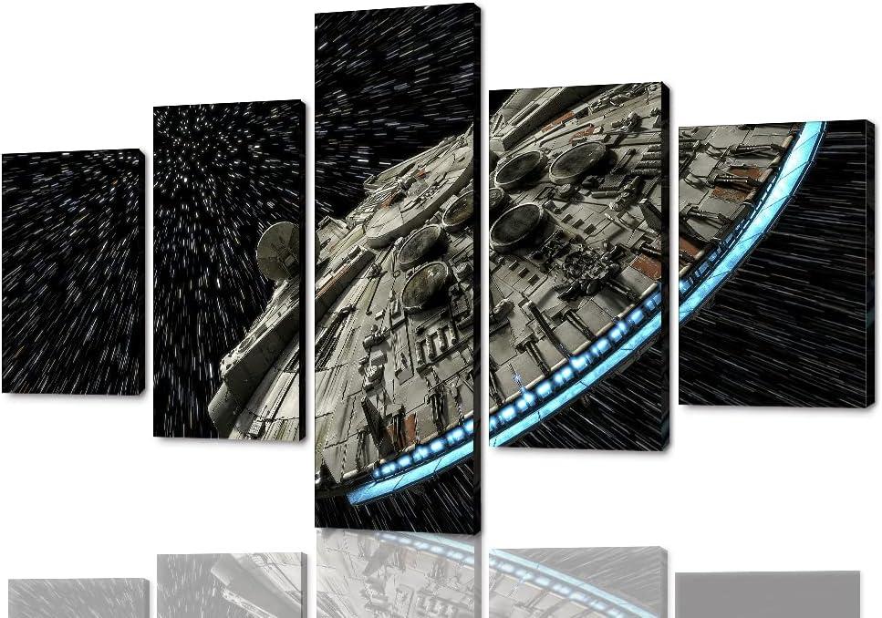 Canvas Print Star Wars Millennium Falcon Print Star Wars Fan Art Print Star Wars Themed Millennium Falcon Print